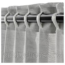 ХИЛЬЯ Гардины, 1 пара, серый, 145x300 см, фото 2