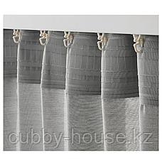 ХИЛЬЯ Гардины, 1 пара, серый, 145x300 см, фото 3