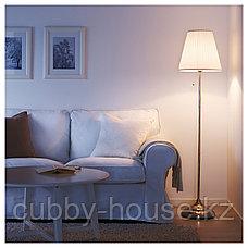 ОРСТИД Светильник напольный, никелированный, белый, фото 3