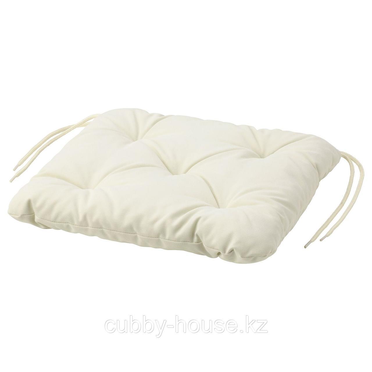 КУДДАРНА Подушка на садовый стул, серый, 36x32 см
