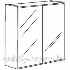 ЛИЛЛОНГЕН Зеркальный шкаф с 2 дверцами, белый, 60x21x64 см, фото 3
