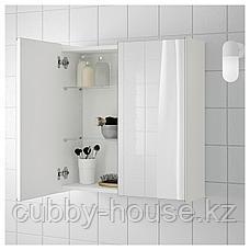 ЛИЛЛОНГЕН Зеркальный шкаф с 2 дверцами, белый, 60x21x64 см, фото 2