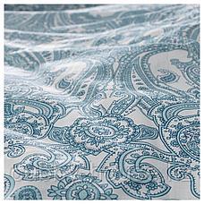 ЙЭТТЕВАЛЛМО Наволочка, белый, синий, 50x70 см, фото 3