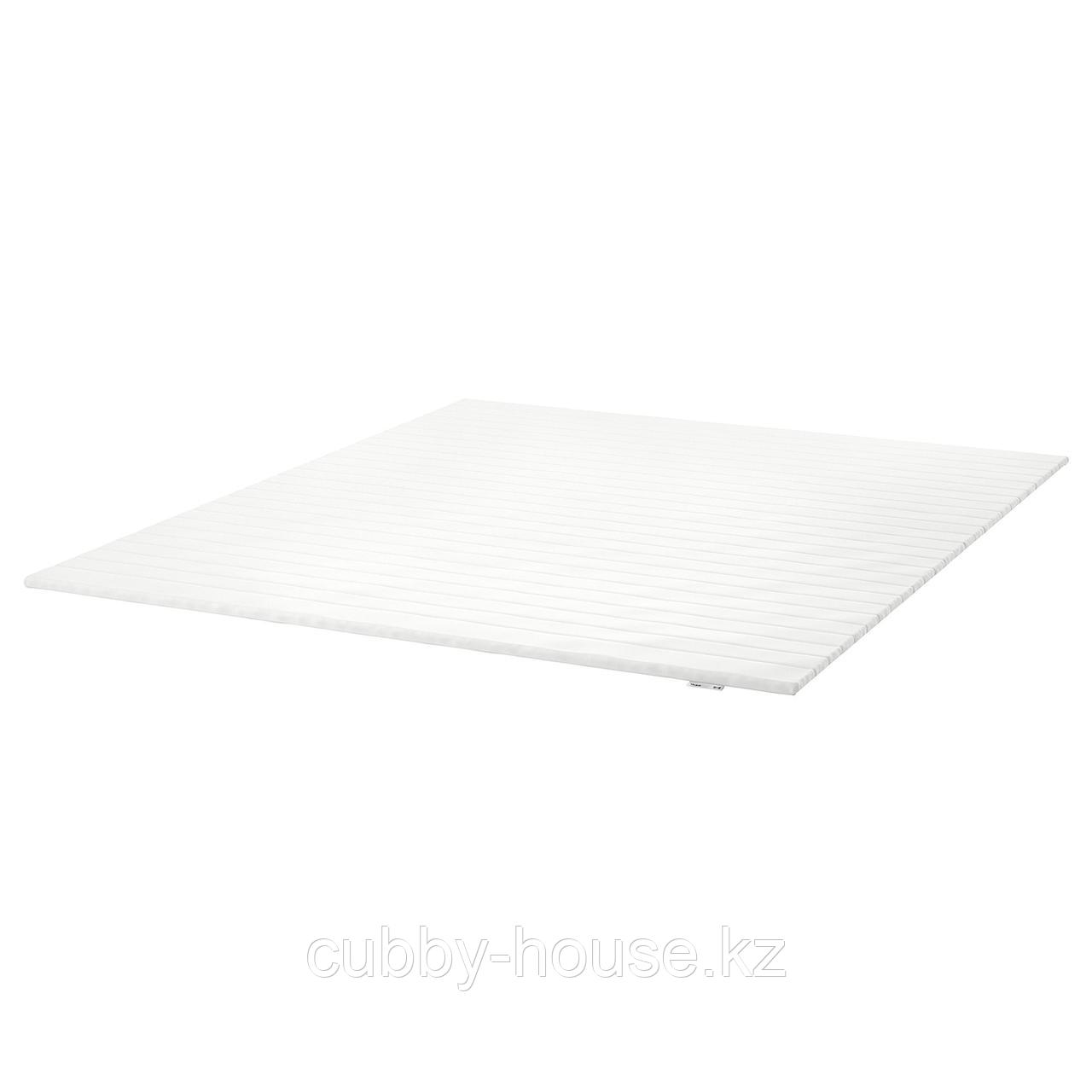 ТАЛЬДЖЕ Тонкий матрас, белый, 140x200 см