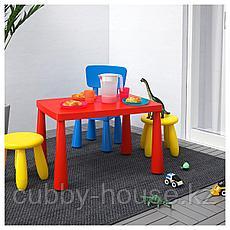 МАММУТ Стол детский, д/дома/улицы красный, 77x55 см, фото 2