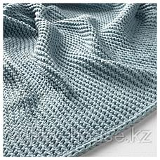 ИГАБРИТТА Плед, голубой, 130x170 см, фото 3