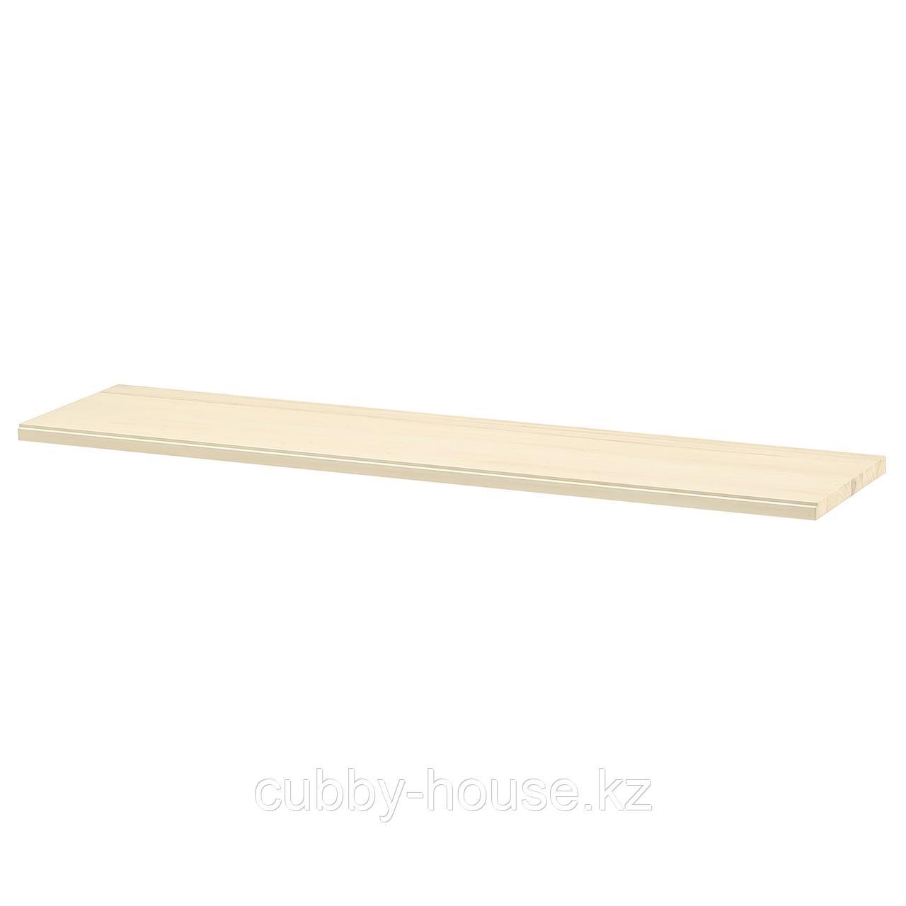 ТРАНГУЛЬТ Полка, осина/белая морилка, 120x30 см