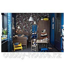 СУНДВИК Раздвижная кровать с реечным дном, серо-коричневый, 80x200 см, фото 3