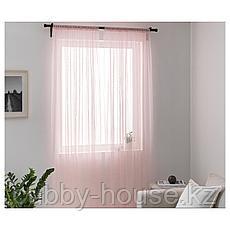 ХИЛЬДРАН Гардины, 2 шт., розовый, точечный, 145x300 см, фото 3