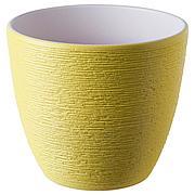 СКАКИГ Горшок цветочный, желтый, 12 см