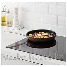 ТРОВЭРДИГ Сковорода, золотисто-коричневый, 28 см, фото 2
