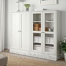 ХАВСТА Комбинация для хранения с сткл двр, белый, 162x37x134 см, фото 3
