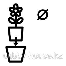 ЛАЙМПЕППАР Горшок цветочный, белый, золотой полоска, 12 см, фото 2