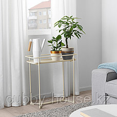 ЛАЙМПЕППАР Горшок цветочный, белый, золотой полоска, 12 см, фото 3