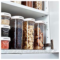 ИКЕА/365+ Контейнер+крышка д/сухих продуктов, прозрачный, белый, 1.3 л, фото 2