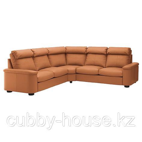 ЛИДГУЛЬТ Угловой диван-кровать, 5-местный, Гранн/Бумстад темно-коричневый, фото 2