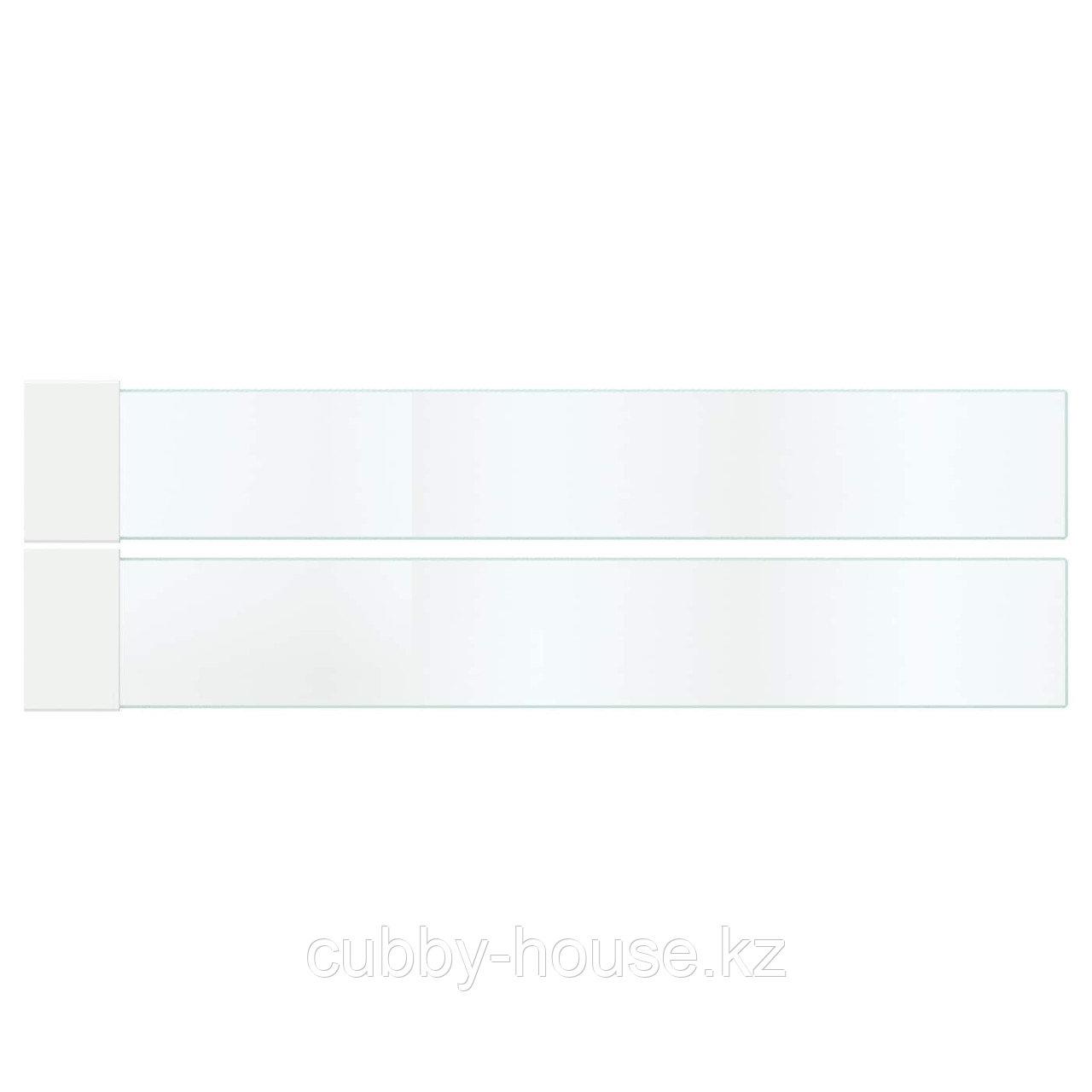 МАКСИМЕРА Дополнит боковина д/ящика, средняя, стекло, 60 см