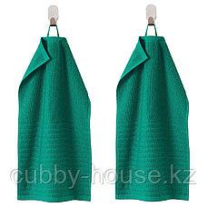 ВОГШЁН Полотенце, темно-зеленый, 30x50 см, фото 2