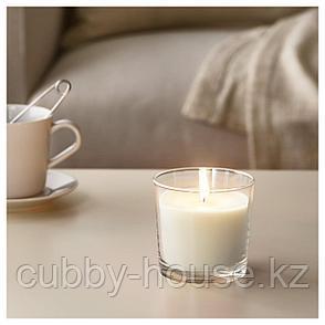 СИНЛИГ Ароматическая свеча в стакане, Сладкая ваниль, естественный, 9 см, фото 2