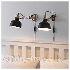 РАНАРП Настенный софит/лампа с зажимом, черный, фото 2