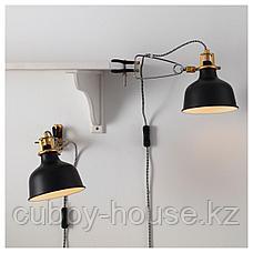 РАНАРП Настенный софит/лампа с зажимом, черный, фото 3