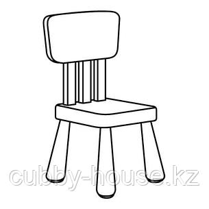 МАММУТ Детский стул, д/дома/улицы, белый, фото 2