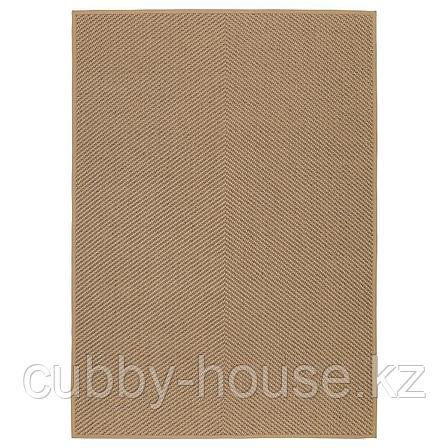 ХЕЛЛЕСТЕД Ковер безворсовый, неокрашенный, коричневый, 133x195 см, фото 2