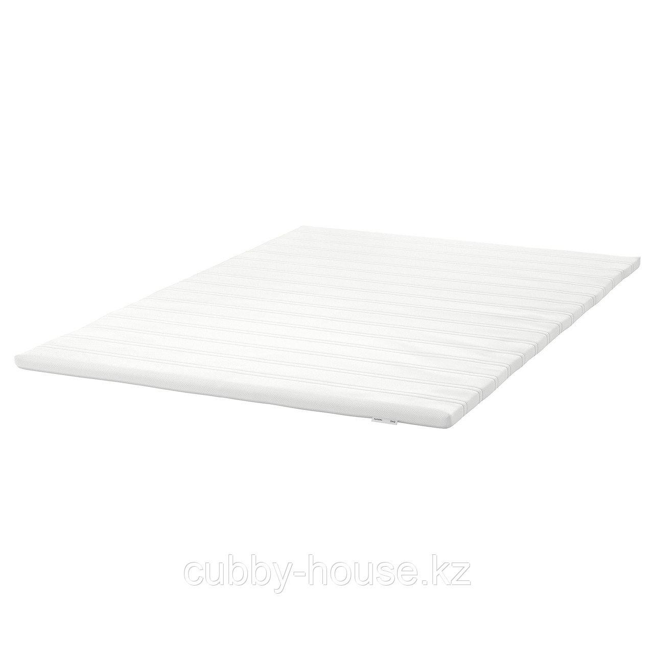 ТЮДДАЛЬ Тонкий матрас, белый, 90x200 см