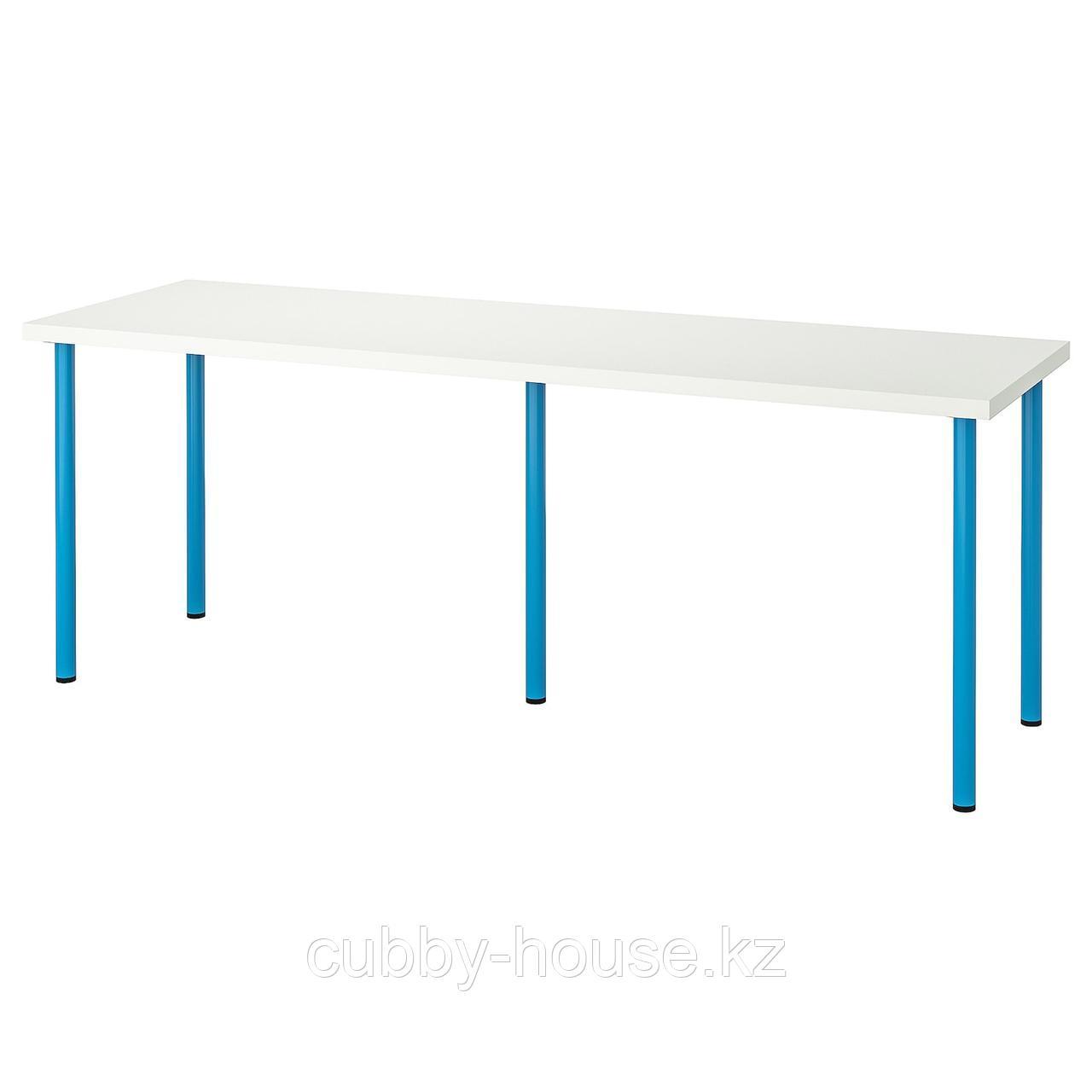 ЛИННМОН / АДИЛЬС Стол, белый, 200x60 см