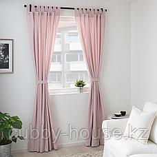 ЛЕНДА Гардины с прихватом, 1 пара, светло-розовый, 140x300 см, фото 3
