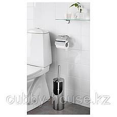КАЛЬКГРУНД Щетка для туалета/держатель, хромированный, фото 2