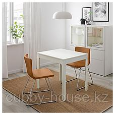 ЭКЕДАЛЕН Раздвижной стол, белый, 80/120x70 см, фото 3