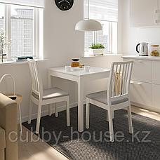 ЭКЕДАЛЕН Раздвижной стол, белый, 80/120x70 см, фото 2