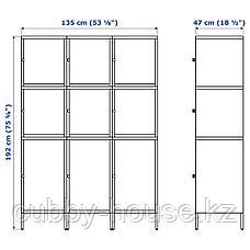 ХЭЛЛАН Комбинация для хранения с дверцами, белый, 135x47x192 см, фото 3