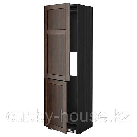 МЕТОД Высокий шкаф д/холод/мороз/2дверцы, белый, Рингульт светло-серый, 60x60x220 см, фото 2