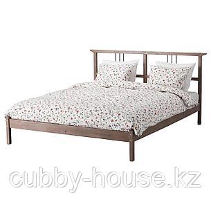 РИКЕНЕ Каркас кровати, серо-коричневый, 160x200 см, фото 2