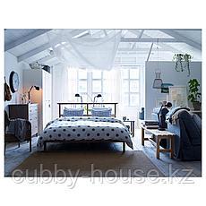 РИКЕНЕ Каркас кровати, серо-коричневый, 160x200 см, фото 3