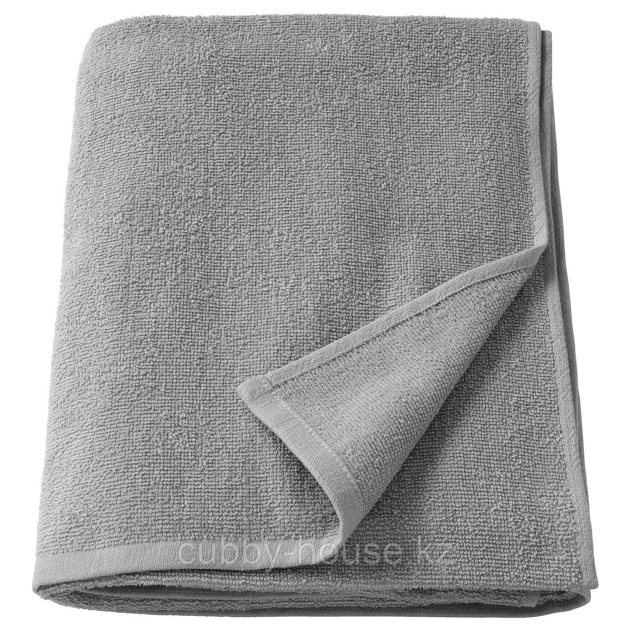 КОРНАН Банное полотенце, серый, 70x140 см