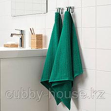 ВОГШЁН Полотенце, темно-зеленый, 50x100 см, фото 2