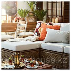 СОЛЛЕРОН Садовый табурет, коричневый, 62x62 см, фото 3