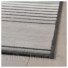 ЛУСТРУП Ковер, короткий ворс, серый, разноцветный, 120x180 см, фото 3