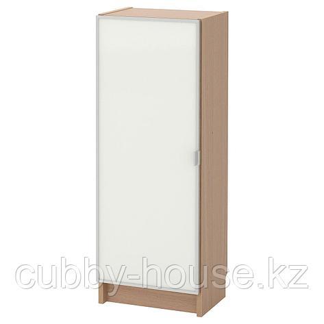 БИЛЛИ / МОРЛИДЕН Шкаф книжный со стеклянной дверью, белый, стекло, 40x30x106 см, фото 2