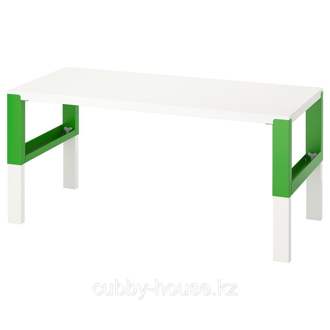ПОЛЬ Письменный стол, белый, 128x58 см