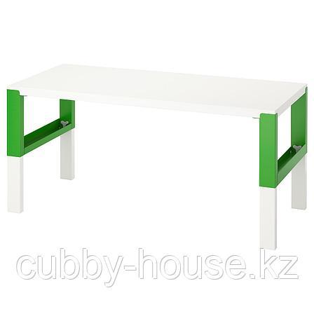 ПОЛЬ Письменный стол, белый, 128x58 см, фото 2