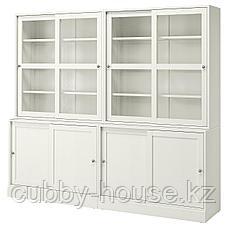 ХАВСТА Комбинация с раздвижными дверьми, белый, 242x47x212 см, фото 2