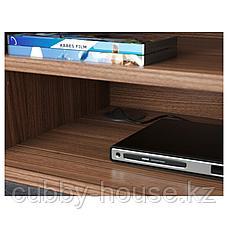 СТОКГОЛЬМ Тумба под ТВ, шпон грецкого ореха, 160x40x50 см, фото 3
