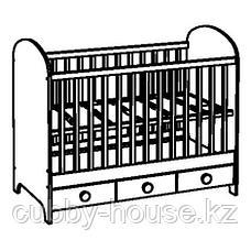 ГУНАТ Кроватка детская, белый, 60x120 см, фото 2