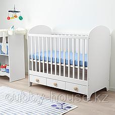 ГУНАТ Кроватка детская, белый, 60x120 см, фото 3