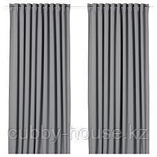 МАЙГУЛЛ Гардины, блокирующие свет, 1 пара, серый, 145x300 см, фото 2