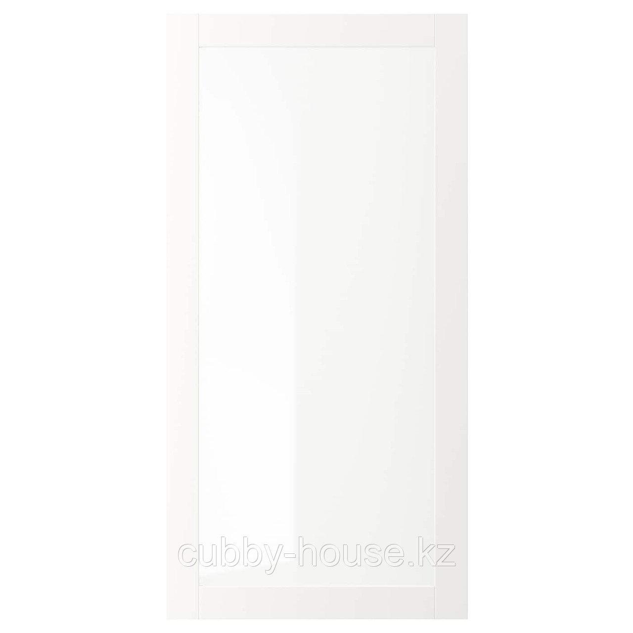 ВЭРД Стеклянная дверь, белый, 60x40 см